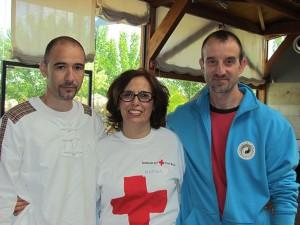Prácticando con los voluntarios de la Cruz Roja